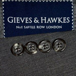 40R Gieves & Hawkes Savile Row London Gray SUIT
